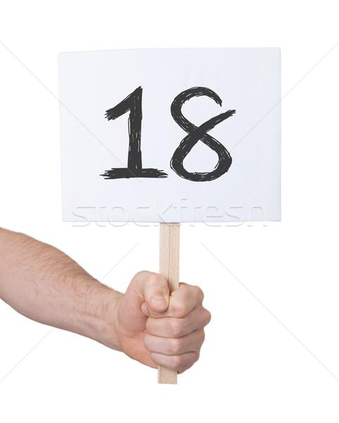 にログイン 番号 18 孤立した 白 ビジネス ストックフォト © michaklootwijk