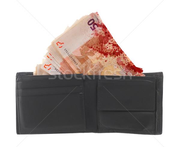 ötven Euro bankjegyek közelkép izolált fehér Stock fotó © michaklootwijk