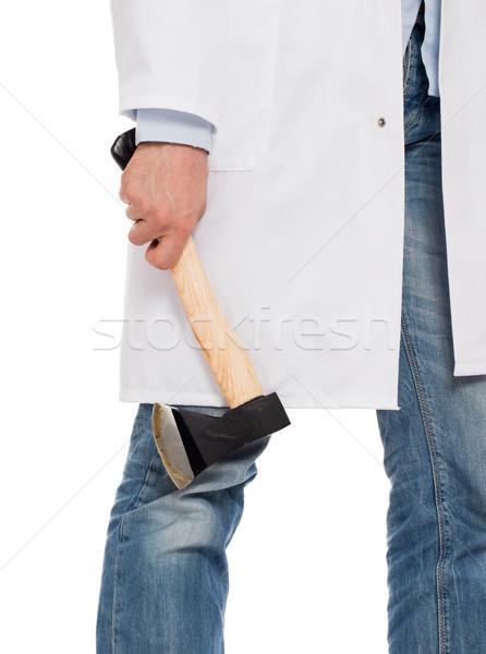 Kötü doktor küçük yalıtılmış Stok fotoğraf © michaklootwijk