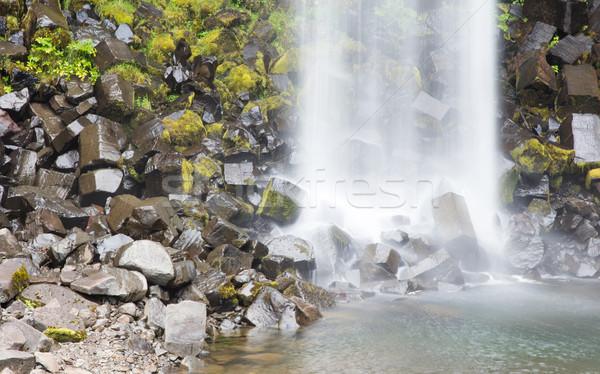 черный осень драматический водопада темно базальт Сток-фото © michaklootwijk