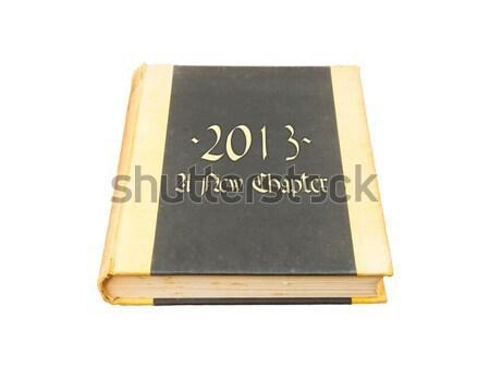 Starej książki odizolowany drewniany stół papieru książki nauki Zdjęcia stock © michaklootwijk