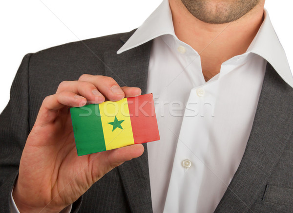 Businessman is holding a business card, Senegal Stock photo © michaklootwijk