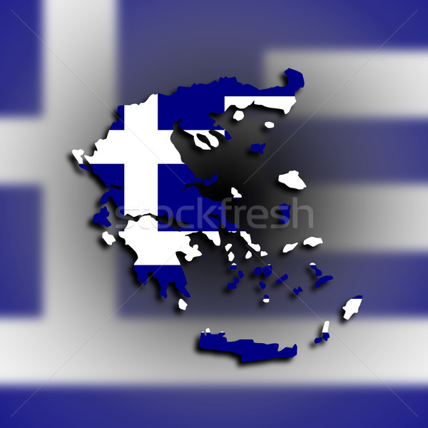 Greece map with the flag inside Stock photo © michaklootwijk