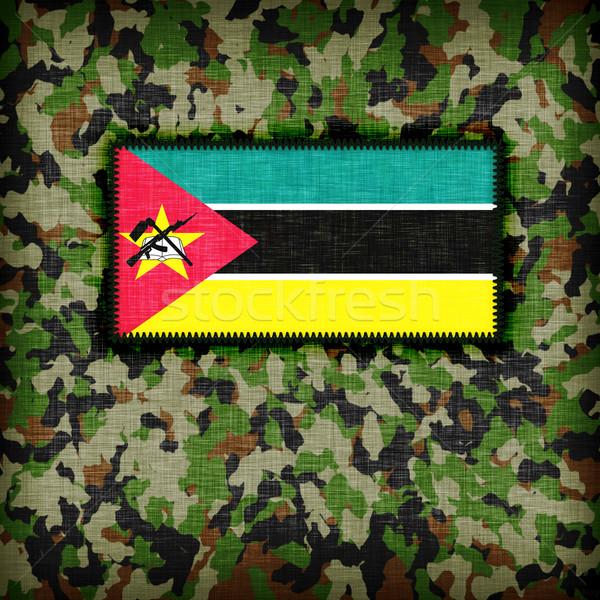 Uniforme Moçambique bandeira textura abstrato Foto stock © michaklootwijk