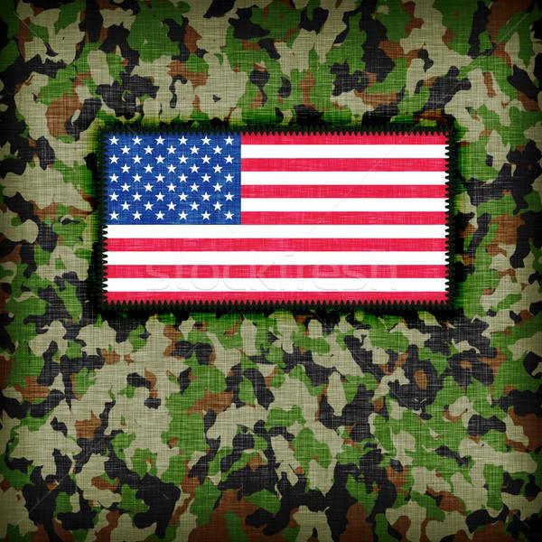 Amy camouflage uniform, USA Stock photo © michaklootwijk
