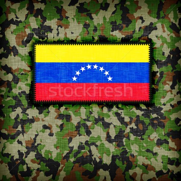 álca egyenruha Venezuela zászló absztrakt zöld Stock fotó © michaklootwijk