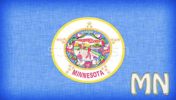 Linen flag of the US state of Minnesota Stock photo © michaklootwijk