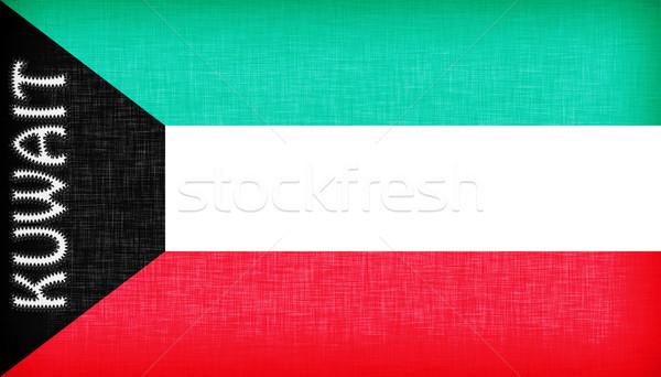 Bandiera Kuwait lettere isolato texture design Foto d'archivio © michaklootwijk