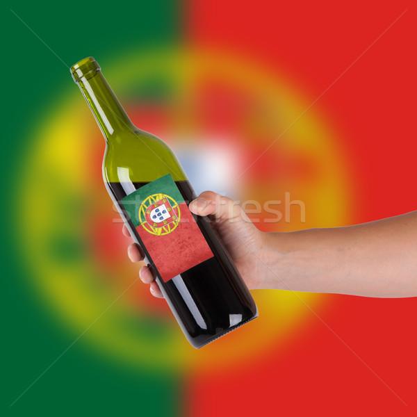 стороны бутылку Label Португалия Сток-фото © michaklootwijk