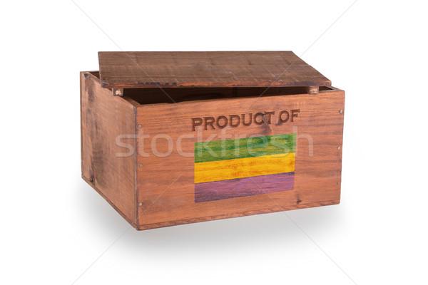 Stock fotó: Fából · készült · láda · izolált · fehér · termék · Gabon