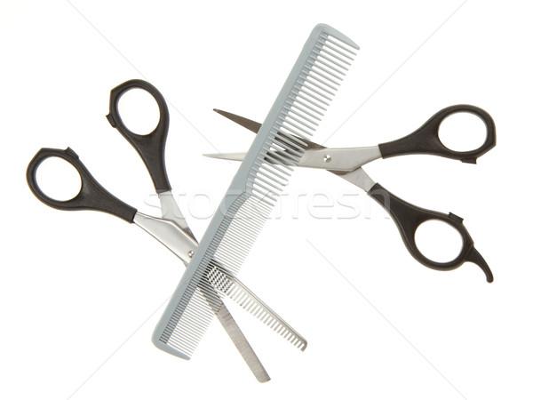 Photo stock: Cheveux · peigne · isolé · blanche · beauté