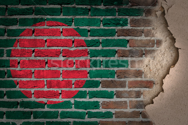Dark brick wall with plaster - Bangladesh Stock photo © michaklootwijk