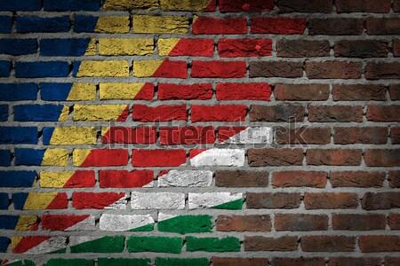 Buio muro di mattoni diritti Kuwait texture bandiera Foto d'archivio © michaklootwijk
