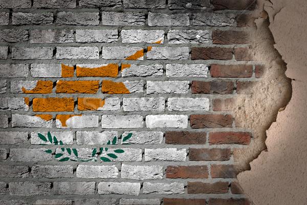 Sombre mur de briques plâtre Chypre texture pavillon Photo stock © michaklootwijk