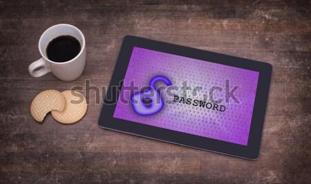 Giriş arayüz tablet kullanıcı adı parola mavi Stok fotoğraf © michaklootwijk