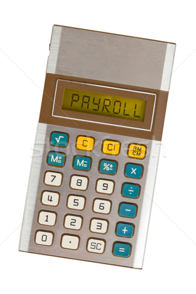 Old calculator - payroll Stock photo © michaklootwijk