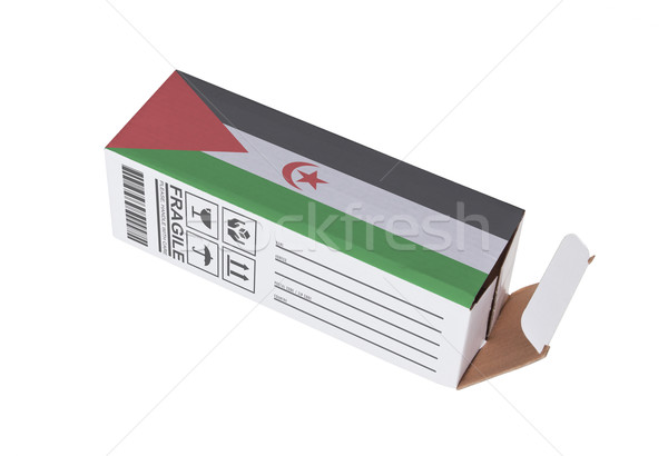 Exportar producto occidental sáhara papel Foto stock © michaklootwijk