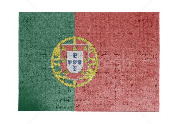 Groot 1000 stukken Portugal vlag Stockfoto © michaklootwijk