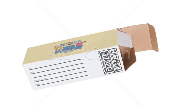 Exportar produto New Jersey papel caixa Foto stock © michaklootwijk