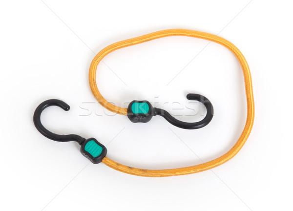 Zwarte haak elastisch touw witte business Stockfoto © michaklootwijk