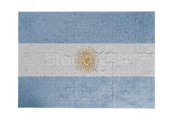 Nagy kirakós játék 1000 darabok Argentína zászló Stock fotó © michaklootwijk