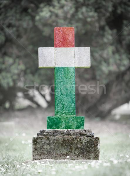 Gravestone in the cemetery - Hungary Stock photo © michaklootwijk