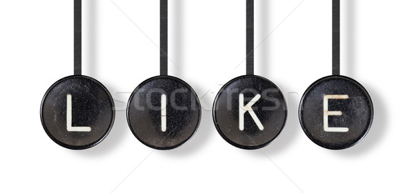 Typewriter buttons, isolated - Like Stock photo © michaklootwijk