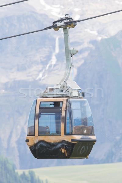 スキー リフト ケーブル ブース 車 スイス ストックフォト © michaklootwijk