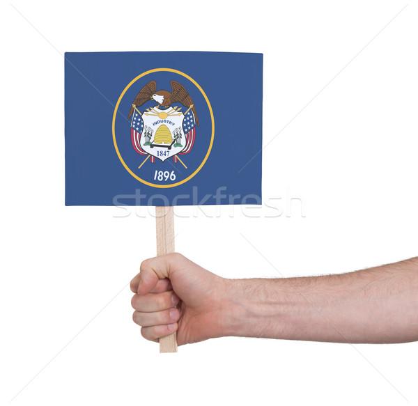 Hand klein kaart vlag Utah Stockfoto © michaklootwijk