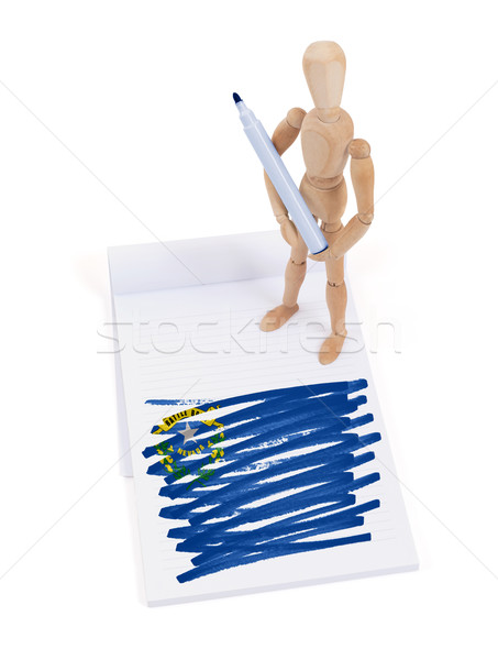 Wooden mannequin made a drawing - Nevada Stock photo © michaklootwijk