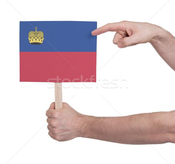 Mano piccolo carta bandiera Liechtenstein Foto d'archivio © michaklootwijk