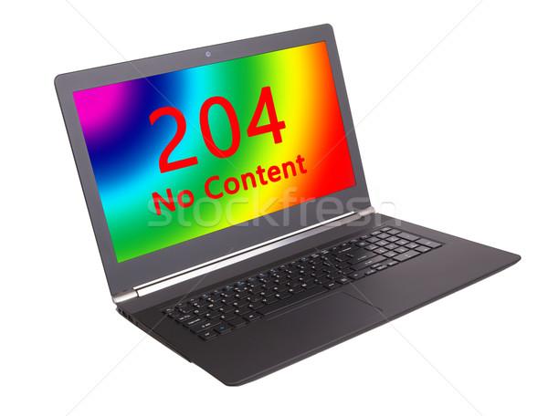 Http code geen inhoud laptop Stockfoto © michaklootwijk