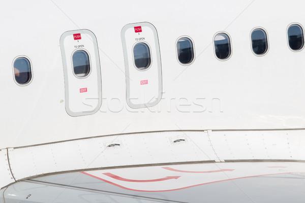 終了する ドア 飛行機 窓 緊急 ビジネス ストックフォト © michaklootwijk