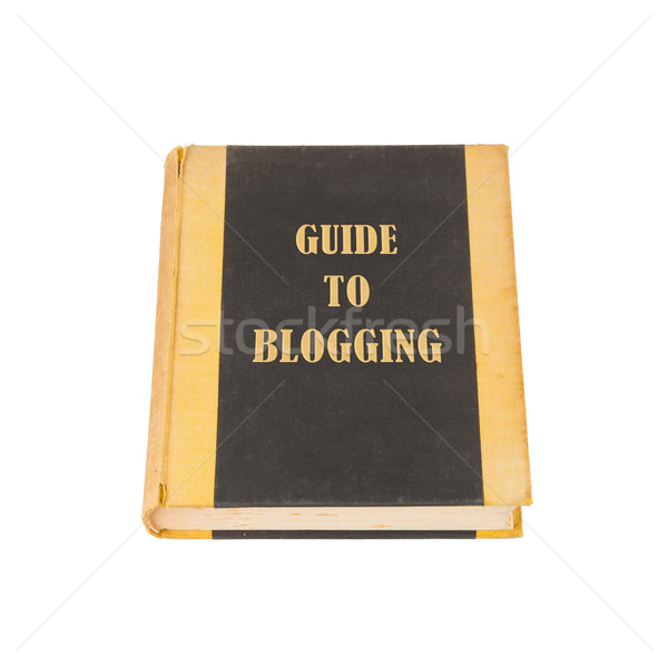Vieux livre blogging titre blanche ordinateur internet Photo stock © michaklootwijk