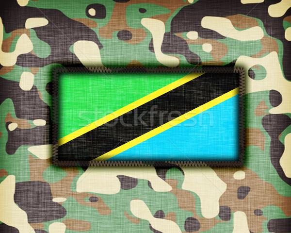 Foto stock: Uniforme · Tanzânia · bandeira · textura · abstrato