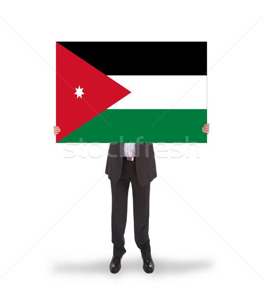 Zakenman groot kaart vlag Jordanië Stockfoto © michaklootwijk