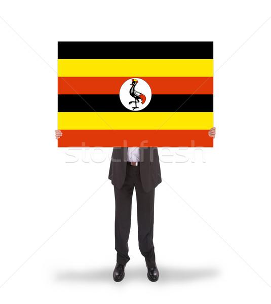 Imprenditore grande carta bandiera Uganda Foto d'archivio © michaklootwijk
