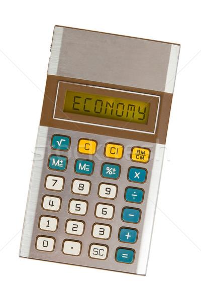 öreg számológép közgazdaságtan mutat szöveg kirakat Stock fotó © michaklootwijk