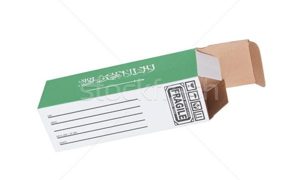 Export termék Szaúd-Arábia kinyitott papír doboz Stock fotó © michaklootwijk