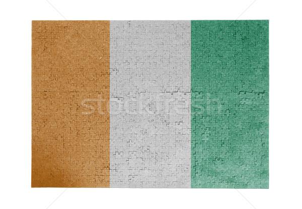 большой 1000 частей Берег Слоновой Кости флаг Сток-фото © michaklootwijk