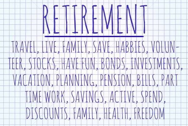 Retirement word cloud Stock photo © michaklootwijk