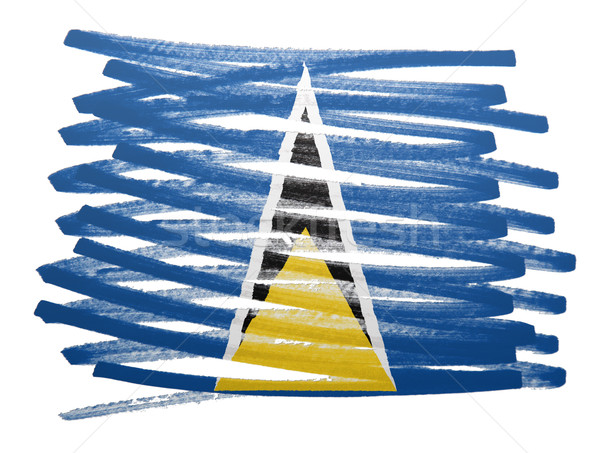 Flag illustration - Saint Lucia Stock photo © michaklootwijk