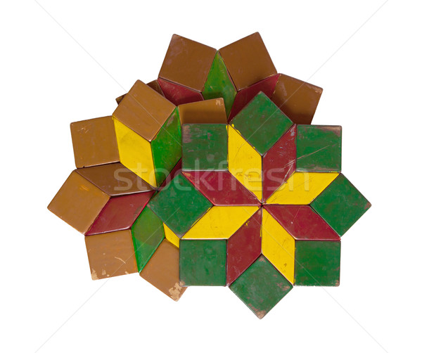 Collection of colorful coasters isolated Stock photo © michaklootwijk