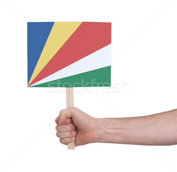 стороны небольшой карт флаг Сейшельские острова Сток-фото © michaklootwijk