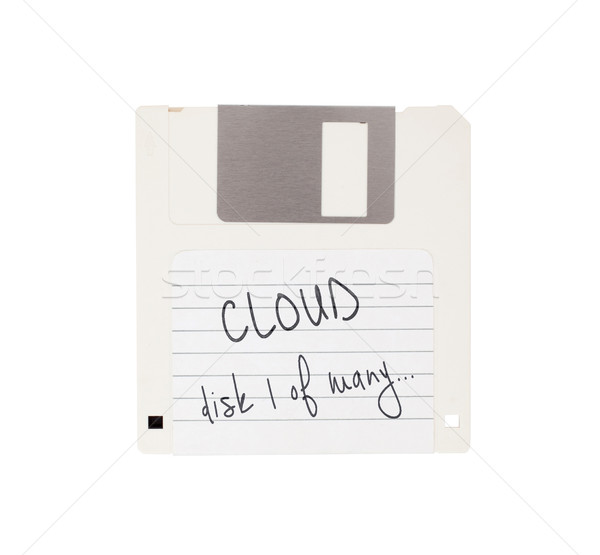 Disk geçmiş yalıtılmış beyaz bulut teknoloji Stok fotoğraf © michaklootwijk