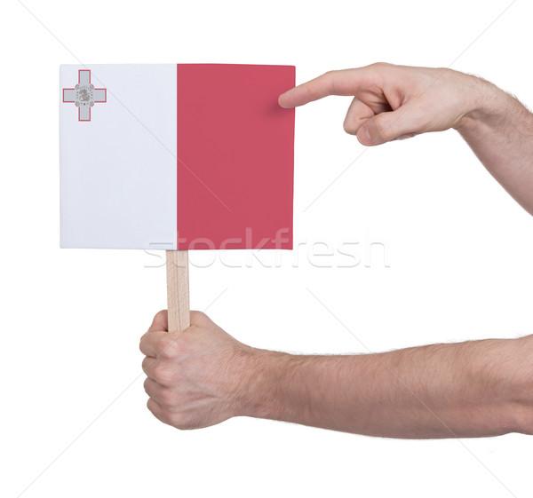 Mão pequeno cartão bandeira Malta Foto stock © michaklootwijk