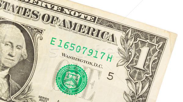 American dollar (one) close-up Stock photo © michaklootwijk