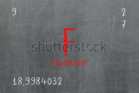 孤立した 黒板 周期表 学校 デザイン 教育 ストックフォト © michaklootwijk