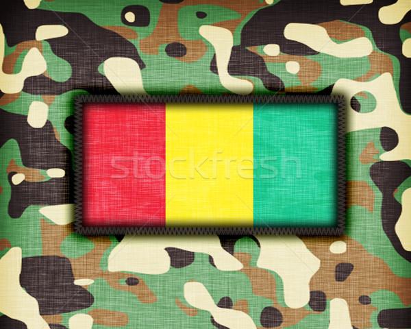 равномерный Гвинея флаг текстуры аннотация Сток-фото © michaklootwijk