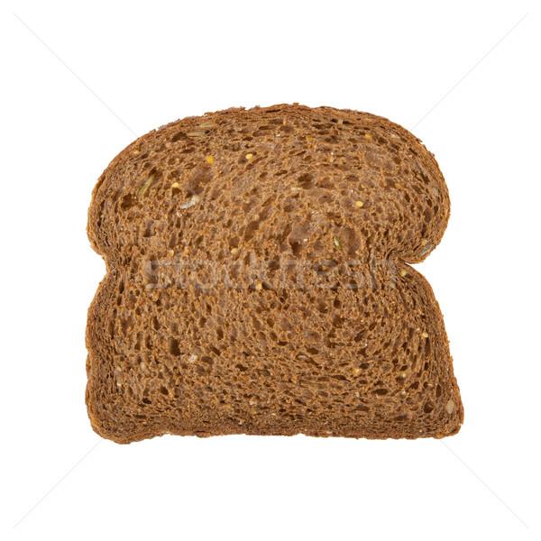 Slice of dark brown bread Stock photo © michaklootwijk